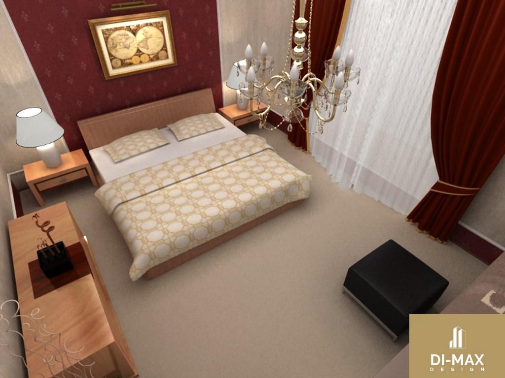 Спальня в бордовом цвете фото